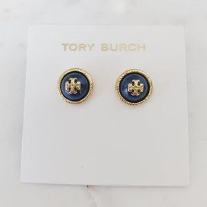 tory burch navy earrings